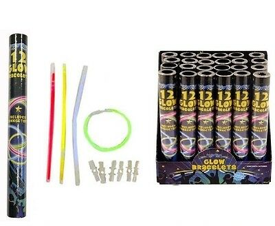 """8"""" Glow Sticks Glow Bracelets Neon Glowsticks Bangles Necklace Parties Event"""