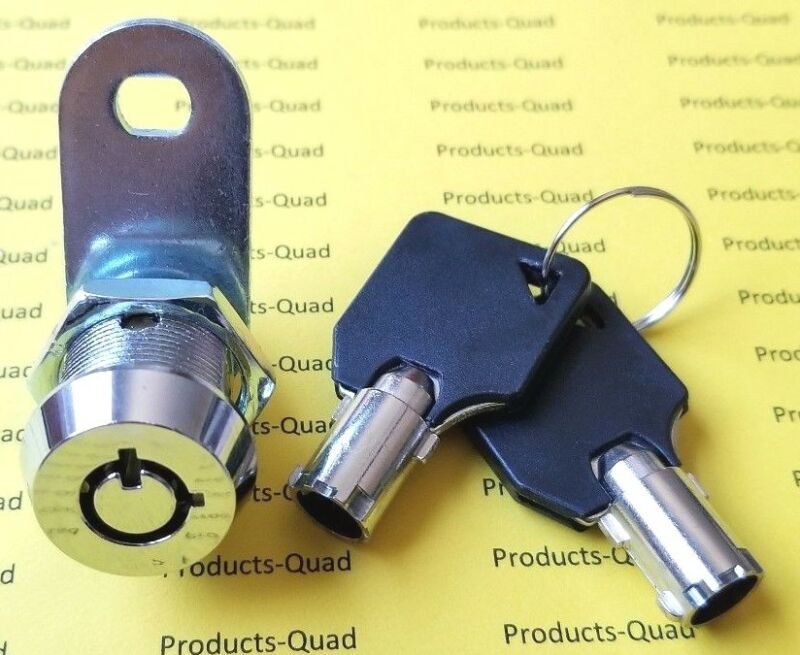 """Tubular Cam Lock 5/8"""" for RV, Camper Drawer Toolbox REMOVABLE key Non-retaining"""