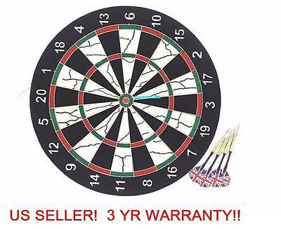 "E12 17"" Professional Official-sized Dartboard 4 Free Darts Dart Board"