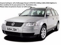 Anyone looking to sell or trade a Volkswagen Passat 1.9TDI. Audi A4 ,Seat ,Bmw 350d Estate
