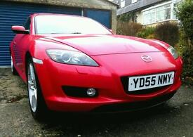 2005 Red Mazda RX8 only 50,000 miles