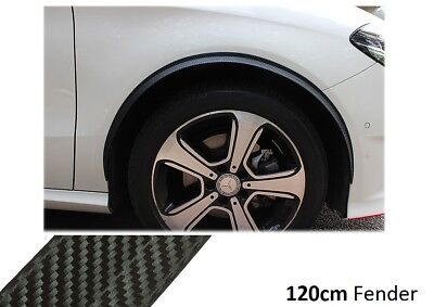 2x Wheel Thread Carbon Look Wheel Fender Flare 120cm Trim for Vector Body Parts