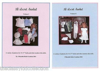 All About Sasha! Volumes I and II Doll Pattern Booklets  NEW!