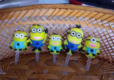 5X Pcs Minion Anti Port Dust Plug Cover Charm for Iphone/Android 3.5mm