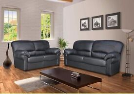LIMITED TIME OFFER:: SALE ENDS SOON:: BRAND NEW Candy 3 and 2 Leather Sofa Set - SAME DAY DELIVERY!