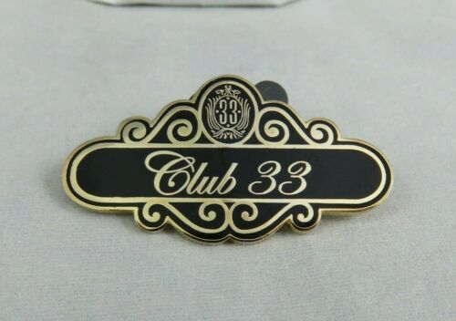 Disney Disneyland Pin - Club 33 Nametag - 50th Anniversary - 05/04/05 Event