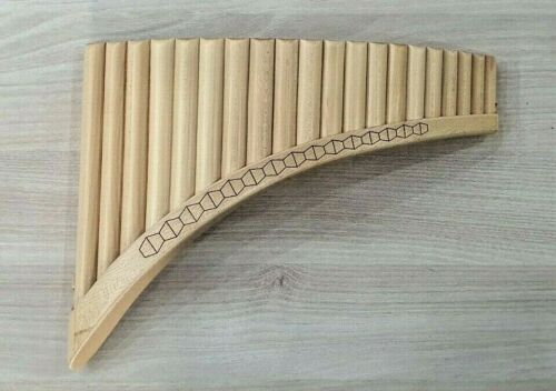 Romanian profesional PanFlute,22 pipes,solid wood, alto, NEW + soft case