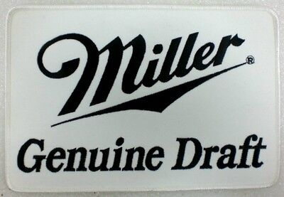 """Miller Brewery Genuine Draft Patch  LARGE SIZE: 5-3/4"""" X 8-1/2""""      NEW"""