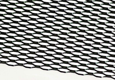 """12"""" X 47"""" UNIVERSAL BLACK ALUMINUM HONEYCOMB MESH for your CUSTOM GRILL GRILLE"""