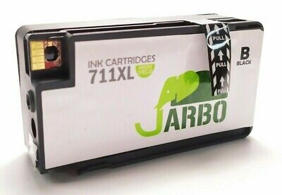 JARBO Remanufactured Printer Ink Alternative Cartridge for HP 711XL - Black