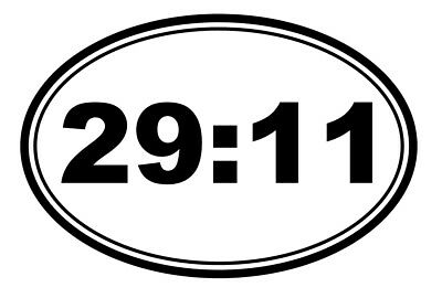 Jeremiah 29:11 Vinyl Decal Sticker Bible Verse Cross Shaped Religious Christian -