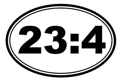 Psalm 23:4 Vinyl Decal Sticker Bible Verse Shaped Religious Christian