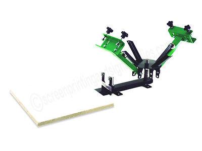 Silk Screen Printing Press 2 Color 1station New