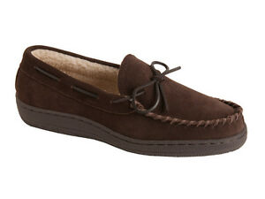 L-B-Evans-Men-039-s-Moccasin-Slipper-HideAway-Morgan-Chocolate-FREE-SHIPPING