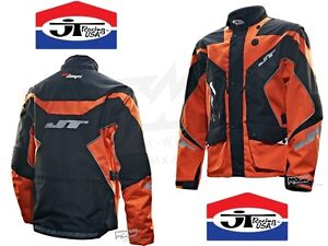 NEU!!! JT RACING SixDays - Enduro Motocross Quad Jacke - schwarz/KTM-orange