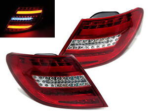 W204 2008-2010 Sedan LED Tail Rear Light Red/Clear w/LED Amber for Mercedes-Benz