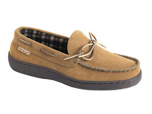 L-B-Evans-Mens-Moccasin-Slipper-HideAways-Marion-Hashbrown-FREE-SHIPPING