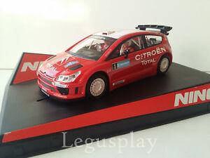 Slot-SCX-Scalextric-Ninco-50494-Citroen-C4-WRC-Swedish-039-07-Loeb