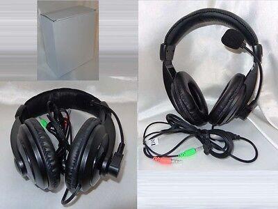 Multimedia Stereo Headset Kopfhörer mit Mikrofon für PC Notebook Handy    #SX750 Multimedia-stereo-headset