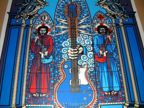 Marco Almera Church Of Rock N Roll Poster Print Signed Numbered 1997 - $129.99