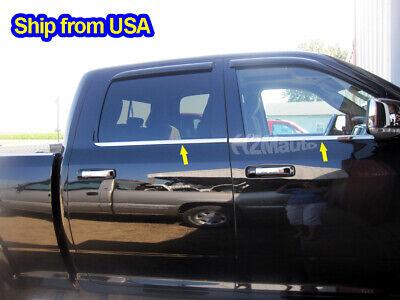 fit:2009-2018 Dodge Ram 1500/10-19 2500 Crew Cab Window Sill Door Trim Overlay