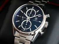Tag Heuer 1887 Carrera Watch Chronograph steel strap CAR2110-0 V2 Serviced with 12mth Warranty £1999