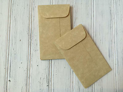 25 Parchment Mini Coin Envelopes, Aged  Envelope, Business Card Envelopes