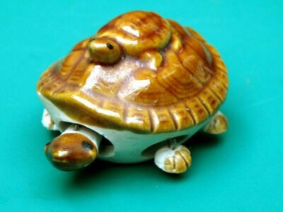 Vintage Very Nice Turtle Mum & Child Figurine Ceramics Pottery