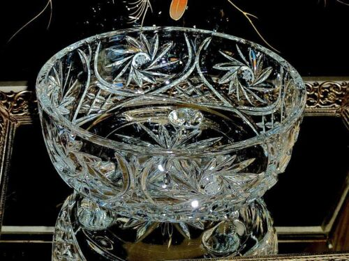 EXCEPTIONAL & EXQUISITE  VINTAGE CRYSTAL MASTER BOWL / CENTREPIECE  HAND CUT BOH