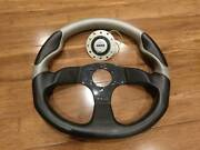 Momo steering wheel - leather and carbon fibre Richmond Yarra Area Preview