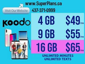 Koodo Canada-wide LTE Phone Plans - Reduced Setup Fee and Bonus Credits - Ryan from SuperPlans.ca