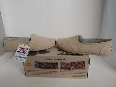 NWT Women's Natural Skechers Bobs Plush: Best Wishes Shoes 33904/ Size 7 (Best Casual Shoes For Women)