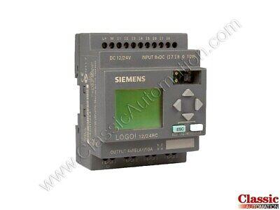 Siemens 6ed1052-1md00-0ba3 Logo 1224rc Logic Module Refurbished