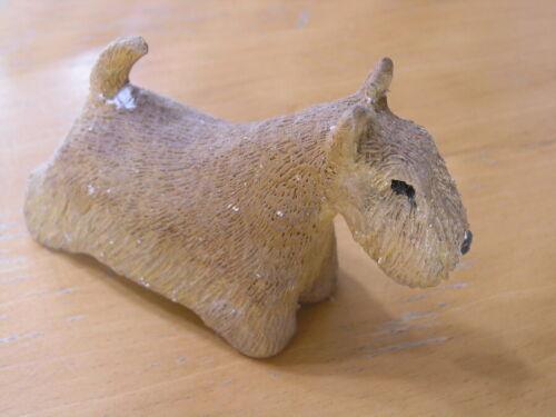 Great Vintage Hand Made Sculpture Bedlington Terrier Dog Figurine