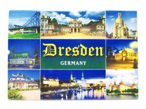 Dresden Frauenkirche Zwinger Foto Magnet Germany 8 cm Reise Souvenir