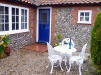 Norfolk West Runton Detached traditional flint Cottage 3 Bedrooms sleeps 6 One level. Garden Parking