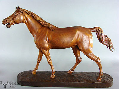 black forest  hand carved Wooden Horse Carving excellent done