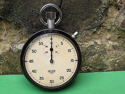 HEUER Swiss Stop Watch, Mechanical in Metal Case  Very nice condition.