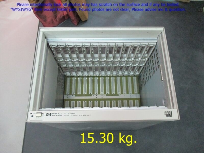 HP Agilent E1401B, VXI High Power Mainframe as photos, sn:8908.dφm 15.3Kg dφm