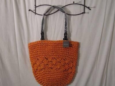 NWT's Gorgeous Kelly & Katie Bright Orange Straw Hobo Bag