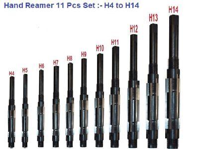 11 Pcs Set Adjustable Hand Reamer H4 To H14 -1532- 1.12