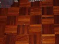 Parquet flooring tiles - PROMISED AND AWAITING COLLECTION