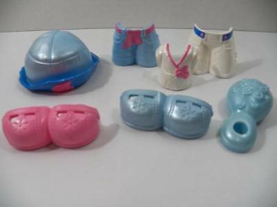 ~Fisher Price~ Snap n' Style Doll Shoes, Hats, Outfits Clip On Clothes