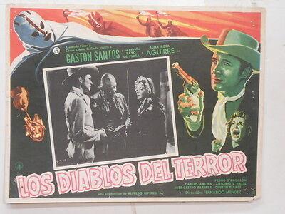 Night Riders Los Diablos Del Terror Santos  Lobby Card Poster Movie Horror 1959