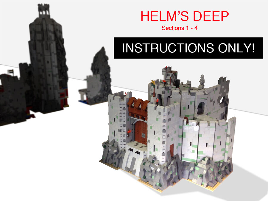 Custom Lord Of The Rings Helms Deep Book 1 Ult Build Lego