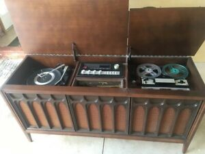 Silvertone Record Player Cabinet with Reel to Reel