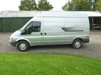 TRANSIT 350 LWB HI TOP VAN , LOW MILEAGE, SILVER, LINED INSIDE, GOOD CONDITION