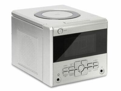 UHRENRADIO SILBER MIT CD PLAYER KÜCHENRADIO WECKRADIO RADIOWECKER (Uhr Mit Cd-player)