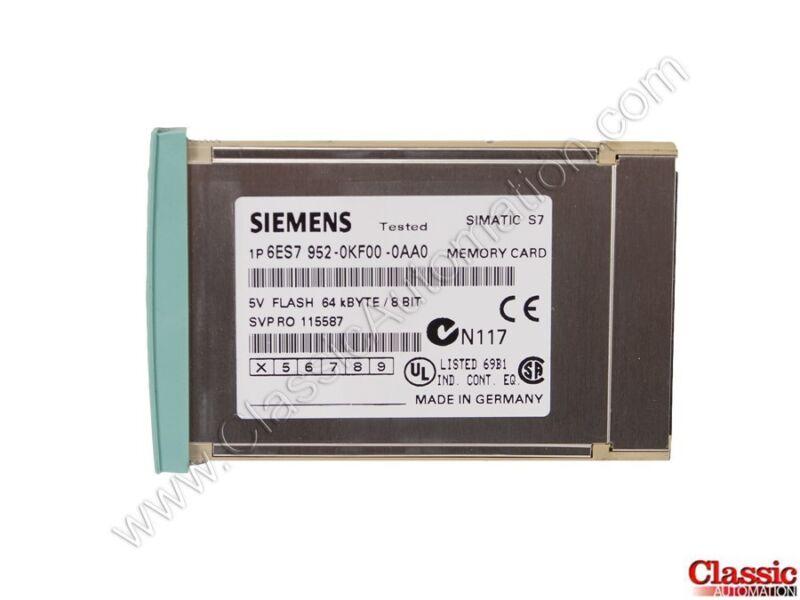 Siemens   6ES7952-0KF00-0AA0   Memory Module - 64K (Refurbished)