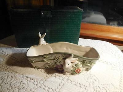 Fitz & Floyd Madeline's Garden Bunny Cracker Tray New in Box